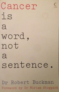 Cancer is A Word, Not a Sentence Book Review