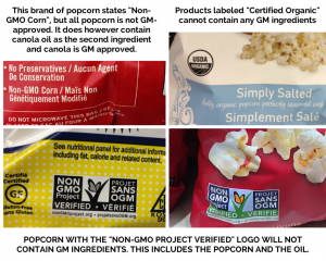 Popcorn bag labels