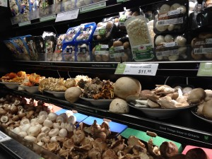 Mushroom counter as Fiesta Farms in Toronto