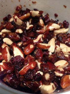 Mix fruit and nuts