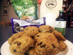 chocolate chip flax cookies with ingredients