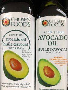 2 bottles of avocado oil