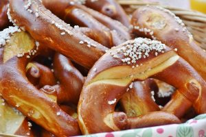 pretzels with salted tops