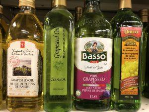 4 bottles of grapeseed oil