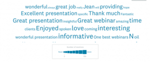 word cloud from webinar participants