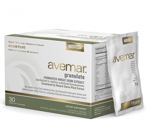 Box of avemar with a sachet leaning against it