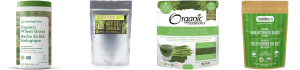 4 brands of wheatgrass juice powder