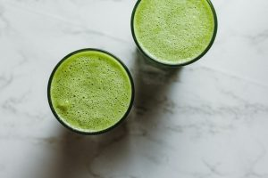 2 glasses of wheatgrass juice