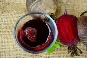 two beets and 1 glass of beet root juice